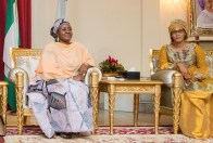 Mrs. Buhari receiving Mrs. Barrow