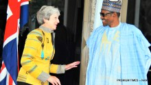 President Muhammadu Buhari (R) welcoming the visiting British Prime Minister, Theresa May at the Presidential Villa in Abuja on Wednesday (29/8/18) 04689/29/8/2018/Callistus Ewelike/NAN Pic 9. President Muhammadu Buhari (R) with the British Prime Minister Theresa May during the visit of the British Prime Minister to the Presidential Villa in Abuja on Wednesday (29/8/18) 04690/29/8/2018/Callistus Ewelike/NAN
