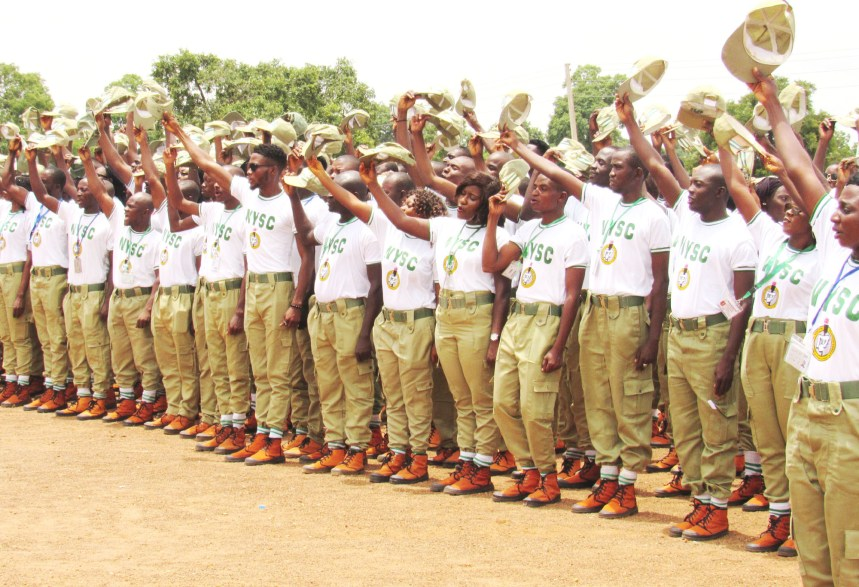 A cross-section of the NYSC Batch B Corp members during their closing ceremony at Wailo NYSC Permanent Orientation Camp in Bauchi on Monday (13/8/18). 04366/14/8/2018/Deji Yake/JMH/HB/NAN