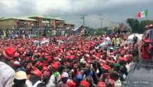 Crowd as Rabiu Kwankwaso declaring to run for President