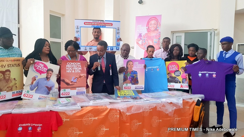 The Director General of the National Agency for the Control of AIDS (NACA), Sani Aliyu and other partners during the launch of the National Adolescents and Young People (AYP) HIV Prevention Campaign.