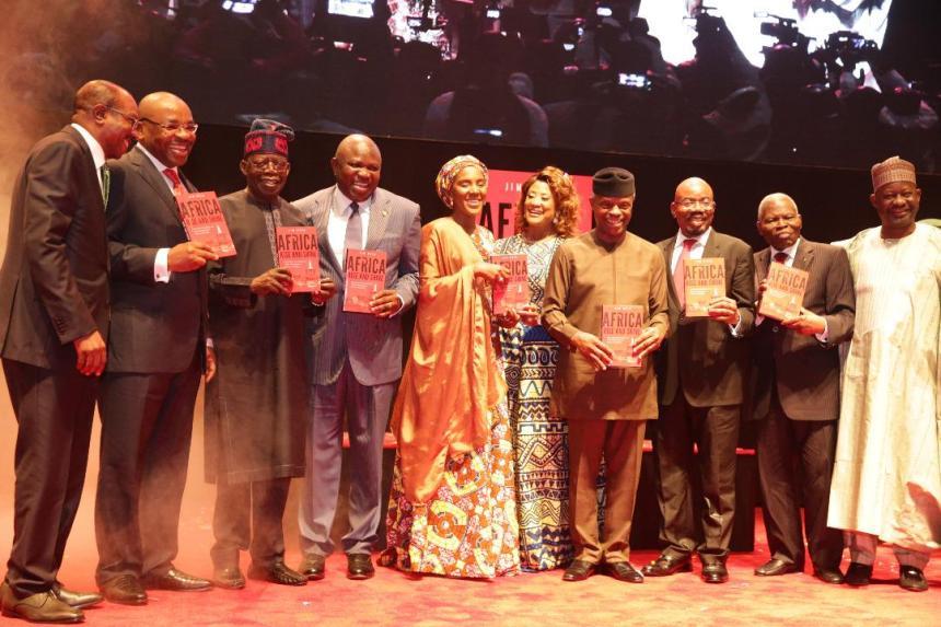 APC Chieftain, Bola Tinubu, Lagos State Governor Akinwunmi Ambode and Vice President, Yemi Osinbajo at the book launch