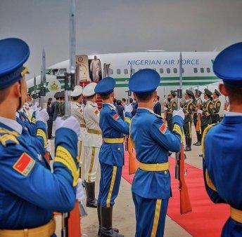 President Buhari arrives China