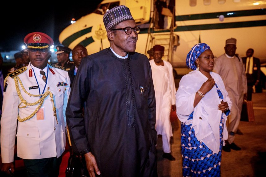 President Buhari returns to Abuja after the UNGA73 [Pix: Bashir Ahmad]