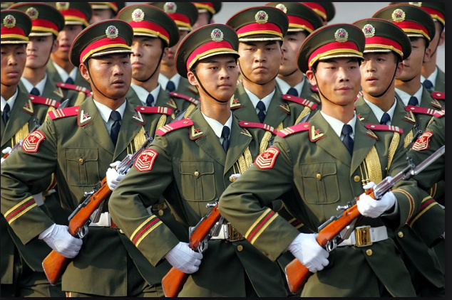 Chinese soldiers used to illustrate the story. [PHOTO CREDIT: Washington Post]