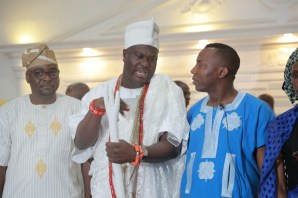 Omoyele Sowore, presidential aspirant at the Ooni's palace