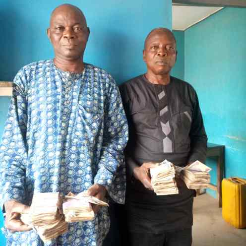 Police arrest two men inducing voters with money