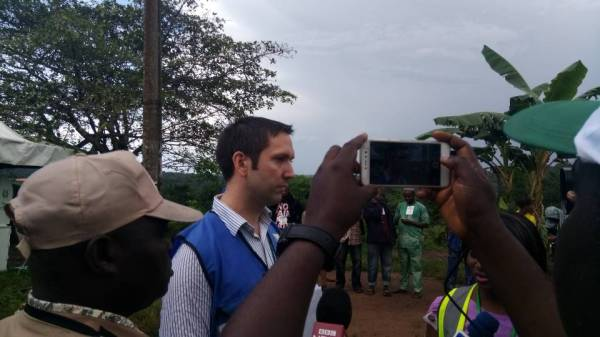 Tommy Williams, a foreign election observer from the british high commission speaks on heavy armed security currently at Olode ward 07, PU12 Adereti in Ife douth LGA.