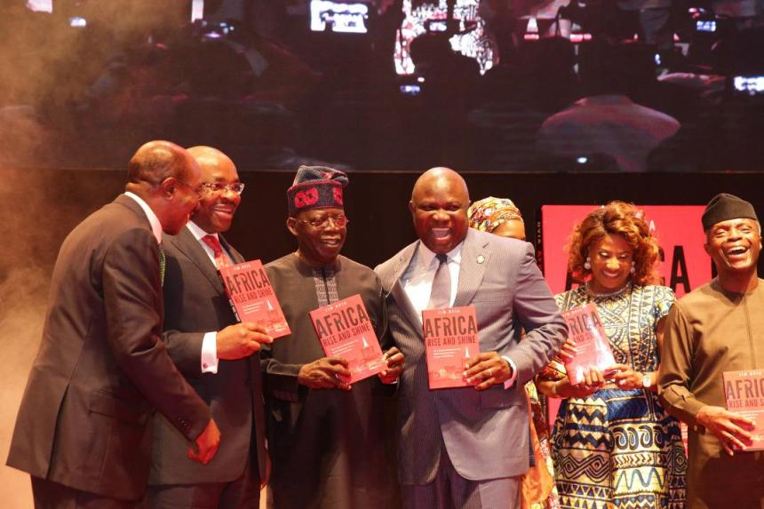 Lagos State Governor, Akinwunmi Ambode with APC Chieftain, Bola Tinubu