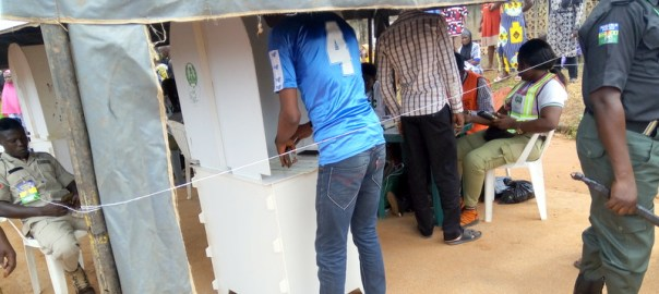 Voting exercise in Osun State.