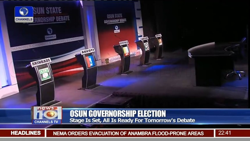 Osun governorship debate (Photo Credit: Channels)