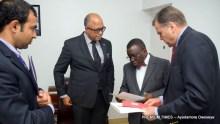 The U.S. Ambassador, Stuart Symington at the Nigeria Centre for Disease Control (NCDC)