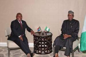 President Cyril Ramaphosa of South Africa and President Muhammadu Buhari of Nigeria