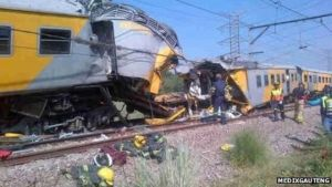 South African trains collision (Photo Credit: BBC)