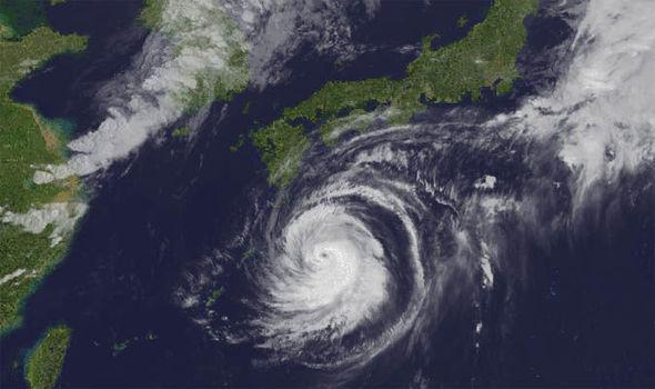 Typhoon Jebi [Photo: Daily Express]