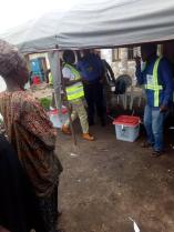 At 8;10am Voting begins at PU 02/ Ward 1, Awo Court Hall/ Egbedore LGA.