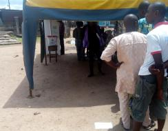 Voting process is being done in an orderly manner at Ifon Orolu Local Government, Olufon Orolu C (Ward 3), Obada Market Area 2 (Polling Unit 2) as at 11:19AM
