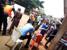 At 11:31 ward 9 PU6 Iba Ifelodun LGA election is going smoothly here and the APO 2 is standing by the cubicle making sure nobody comes there with a smartphone