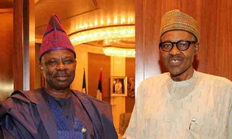 President Muhammadu Buhari and Ogun State Governor, Ibikunle Amosun