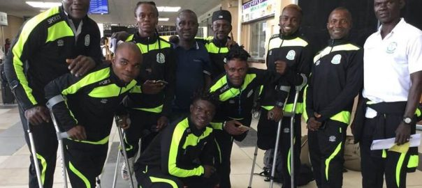 Nigeria Amputee Football team used to illustrate the story