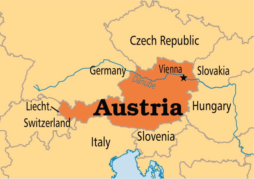 Map of Austria (Photo Credit: Operation World)