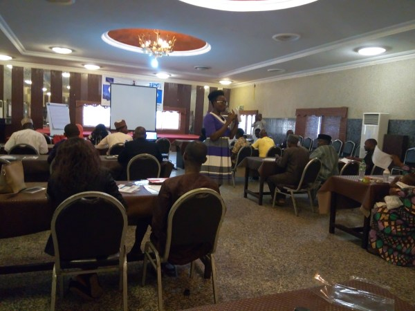 A cross section of journalists during the training