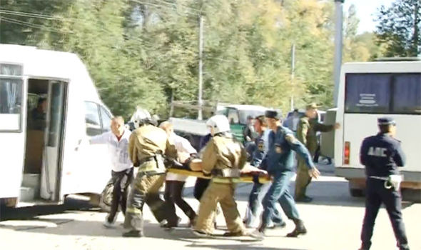 Rescue efforts after explosion in Crimea