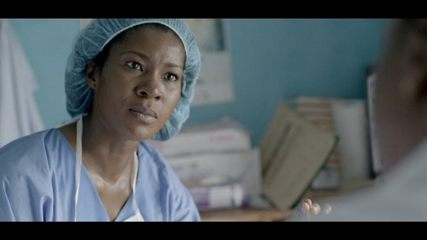 Steaphanie Linus as Dr Zara in _Dry_