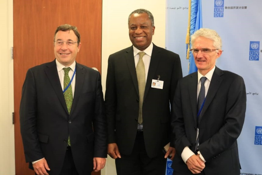 A UN joint delegation with Foreign Affairs Minister, Geoffrey Onyeama