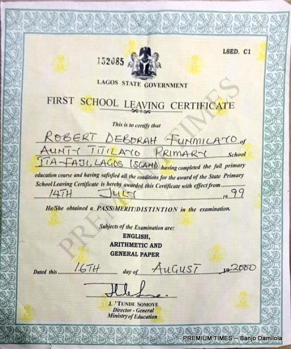 First School Leaving Certificate Obtained from SUBEB staff