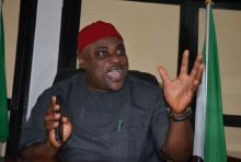 The National Chairman of the All Progressive Grand Alliance (APGA), Chief Victor Oye. [PHOTO CREDIT: Daily Post Nigeria]