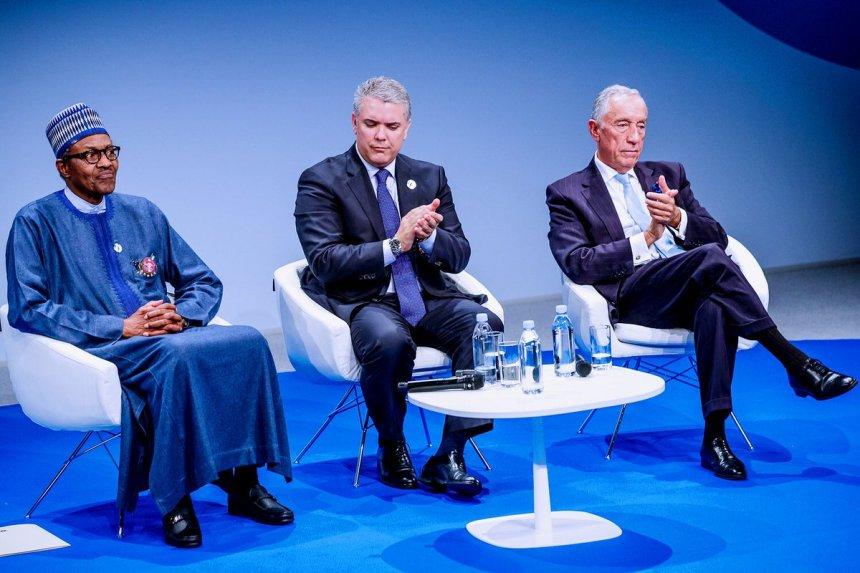 President Muhammadu Buhari at the Paris Peace Forum