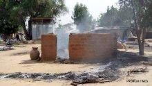 Village raided by Boko Haram insurgents.