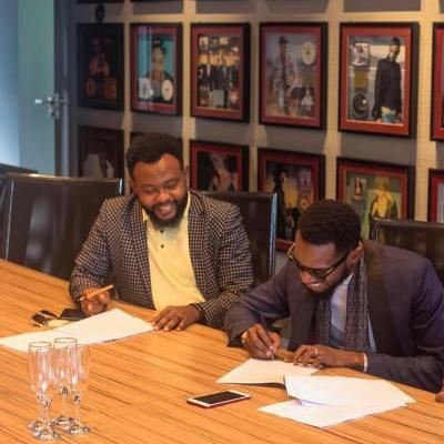 D'banj signed the undisclosed deal under his record label, DKM record.