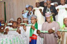 Buhari unveils Unity Band.