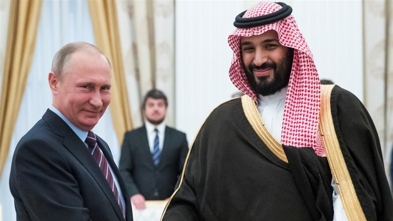 Russian President, Vladimir Putin and Saudi's Crown Prince Mohammed bin Salman
