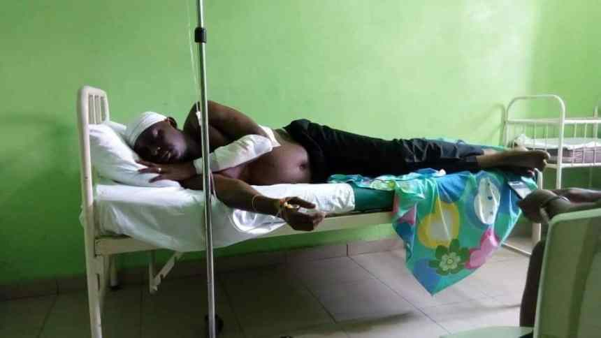 Mr Nse Ntuen on hospital bed after the fracas at Akwa Ibom State House of Assembly