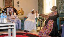 Oby Ezekwesili with Ibrahim Babangida in Minna
