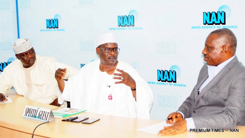 Pic.20. Sen Ndume visits NAN Forum in Abuja - FAO, ActionAid urge stakeholders to support gender policy on agriculture