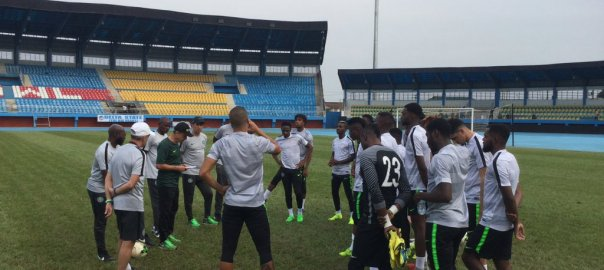 Stand-in Captain Ahmed Musa and 21 other players trained at the Stephen Keshi Stadium