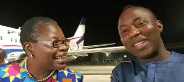 Oby Ezekwesili and Omoyele Sowore [Photo: YouTube]