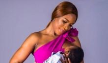 Linda Ikeji and her new born. [PHOTO CREDIT: Official Instagram page of Linda Ikeji]