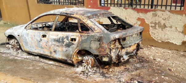 Explosion rocks Abule-egba; cars houses burnt