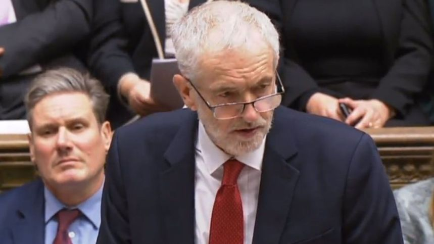 Labour opposition leader Jeremy Corbyn
