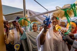 Mrs. Buhari commissions Model Orphanage and integrated school built for orphans by wife of the Governor of Borno state, Nana Shettima
