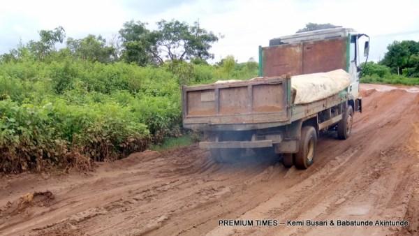 Sapati Road...nightmare for motorists