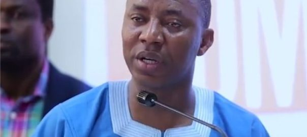 The presidential candidate of the African Action Congress (AAC), Omoyele Sowore,. [PHOTO CREDIT: Daily Post Nigeria]