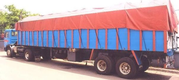 A trailer used to illustrate the story (Photo Credit: PM News)