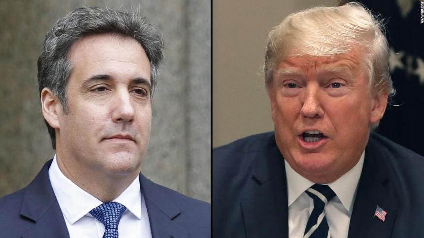 Trump and Cohen. [PHOTO CREDIT: CNN]