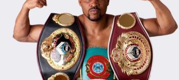 WBF Africa middle weight champion King Davidson who is one of the pugilists
